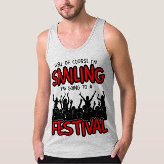 SMILING FESTIVAL (blk) Singlet