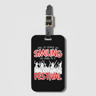 SMILING FESTIVAL (wht) Bag Tag