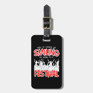SMILING FESTIVAL (wht) Luggage Tag