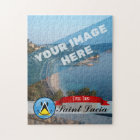 Smiling Flag of Saint Lucia Jigsaw Puzzle