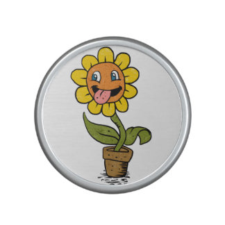 smiling flower cartoon speaker