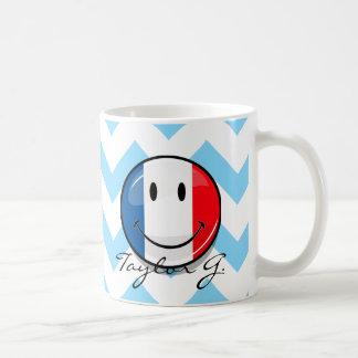Smiling French Flag Basic White Mug