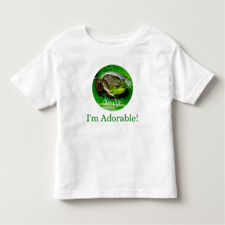 Smiling Frog-Smile I'm Adorable! Toddler T-Shirt