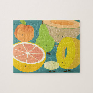 Smiling fruit gathering | Jigsaw Puzzle