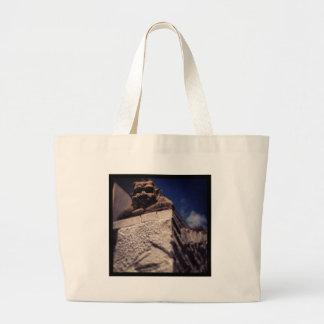 smiling gargoyle large tote bag