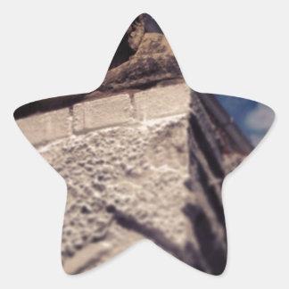 smiling gargoyle star sticker