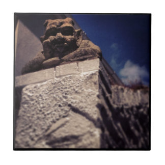 smiling gargoyle tile
