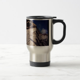 smiling gargoyle travel mug