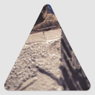 smiling gargoyle triangle sticker