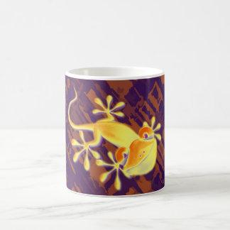 Smiling Gecko - violet orange pattern Coffee Mug