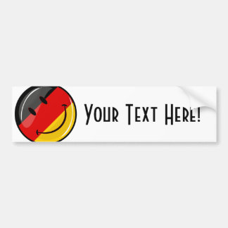 Smiling German Flag Bumper Sticker