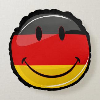 Smiling German Flag Round Cushion