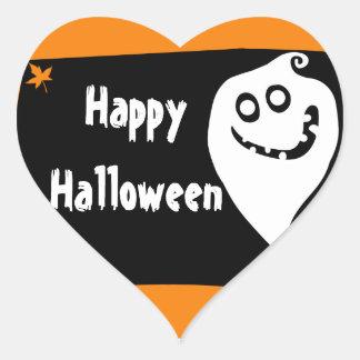 Smiling ghost Halloween sticker