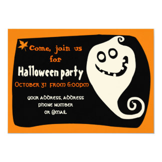 Smiling ghost invitation card