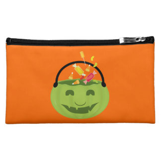 Smiling ghoul pail cosmetic bag
