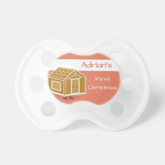 Smiling Gingerbread House Pacifer Dummy