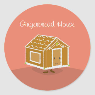 Smiling Gingerbread House | Sticker