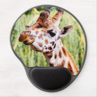 Smiling Giraffe, Animal Showing Its Teeth Gel Mouse Pad
