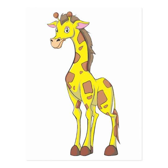 Smiling Giraffe Postcard