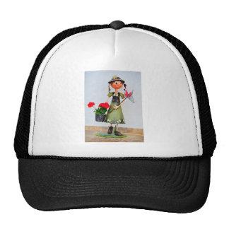 Smiling girl garden decor trucker hat