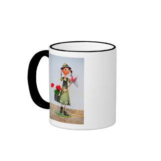 Smiling girl garden decor mug
