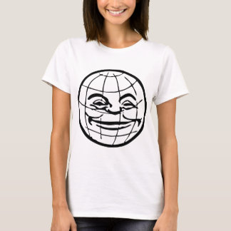 Smiling Globe, earth, face, happy world, grinning T-Shirt