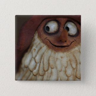 Smiling Gnome 15 Cm Square Badge