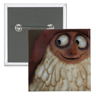 Smiling Gnome 15 Cm Square Badge