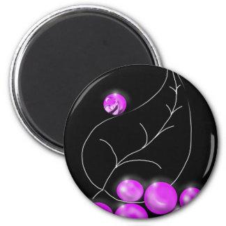 smiling-grape refrigerator magnet