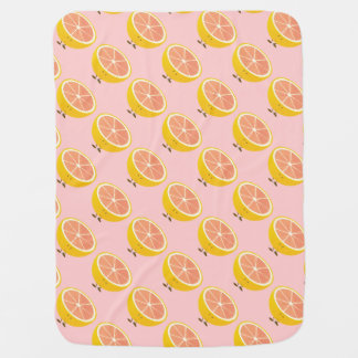 Smiling Grapefruit Baby Blanket