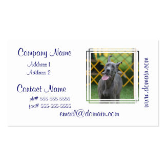 Smiling Great Dane Business Cards
