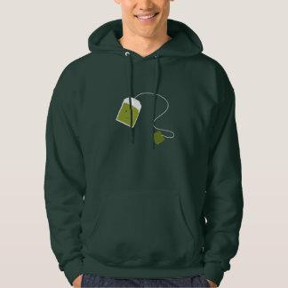 Smiling green tea bag hoody