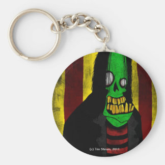 Smiling Green Zombie Keychain
