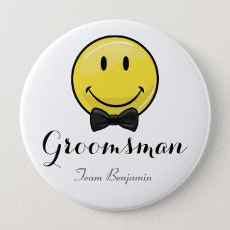 Smiling Groomsmen Wedding Button