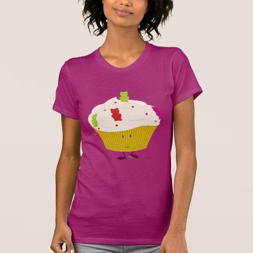 Smiling gummy bear cupcake shirts