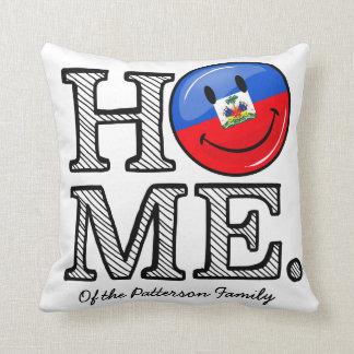 Smiling Haitian Flag Housewarming Throw Pillow