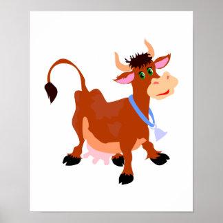 smiling happy cow print
