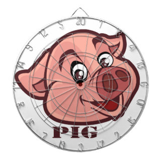 Smiling Happy Pig Face Dartboard