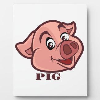 Smiling Happy Pig Face Plaque