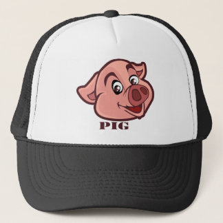 Smiling Happy Pig Face Trucker Hat