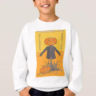 Smiling Happy Scarecrow Jack O' Lantern Sweatshirt