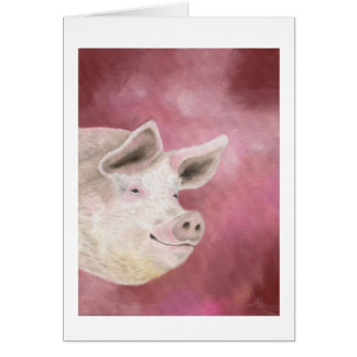Smiling hog card