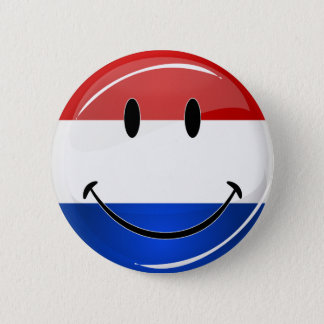 Smiling Holland Netherlands Flag 6 Cm Round Badge