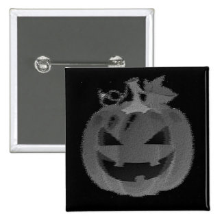 Smiling Jack-o-lantern 15 Cm Square Badge