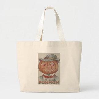 Smiling Jack O' Lantern Pumpkin Suit Jumbo Tote Bag