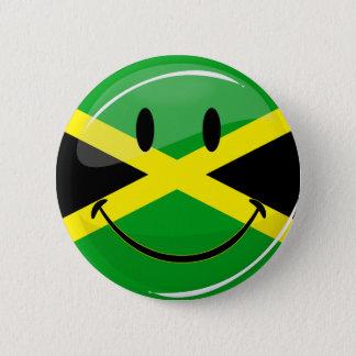 Smiling Jamaican Flag 6 Cm Round Badge