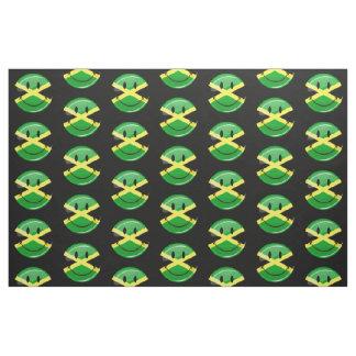 Smiling Jamaican Flag Fabric