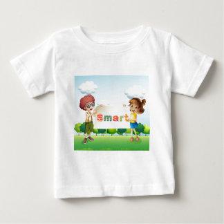 Smiling kids holding a signboard infant T-Shirt