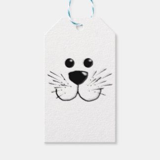 Smiling Kitty Cat Face Gift Tags