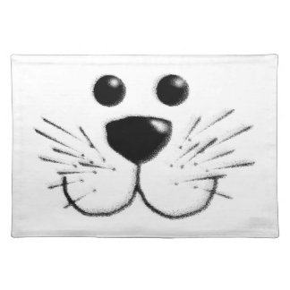 Smiling Kitty Cat Face Placemat